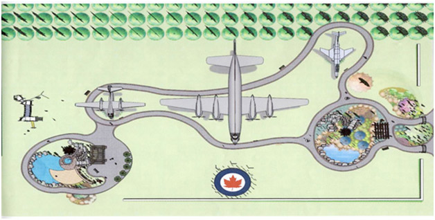 Concept drawing of the park